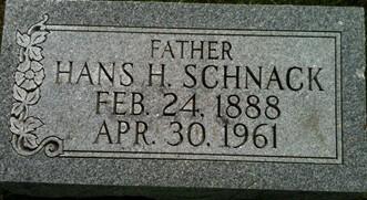 SCHNACK, HANS HENRICK - Cedar County, Iowa | HANS HENRICK SCHNACK