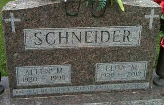 SCHNEIDER, ALLEN M. - Cedar County, Iowa | ALLEN M. SCHNEIDER