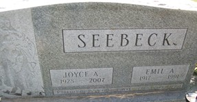 MCEOWEN SEEBECK, JOYCE A. - Cedar County, Iowa | JOYCE A. MCEOWEN SEEBECK