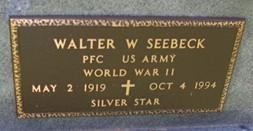 SEEBECK, WALTER W. - Cedar County, Iowa | WALTER W. SEEBECK