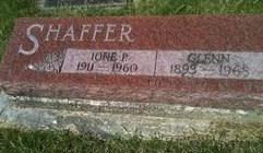 SHAFFER, IONE P. - Cedar County, Iowa | IONE P. SHAFFER