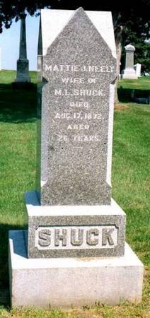SHUCK, MATTIE J. - Cedar County, Iowa | MATTIE J. SHUCK