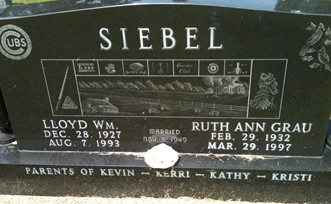 GRAU SIEBEL, RUTH ANN - Cedar County, Iowa | RUTH ANN GRAU SIEBEL