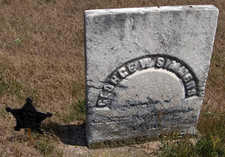 SIMMONS, GEORGE W. - Cedar County, Iowa   GEORGE W. SIMMONS