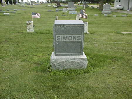 SIMONS, FAMILY - Cedar County, Iowa | FAMILY SIMONS