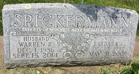 SPICKERMANN, WARREN ROGER - Cedar County, Iowa | WARREN ROGER SPICKERMANN