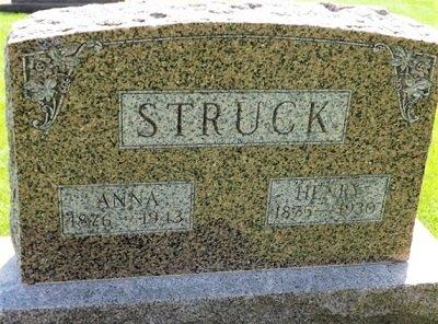 WILLERT STRUCK, ANNA SOPHIA - Cedar County, Iowa | ANNA SOPHIA WILLERT STRUCK