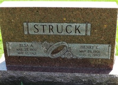 STRUCK, ELSA A. - Cedar County, Iowa | ELSA A. STRUCK