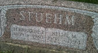 STUEHM, NELLIE M. - Cedar County, Iowa | NELLIE M. STUEHM