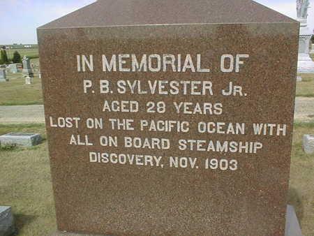 SYLVESTER, P.B. JR. - Cedar County, Iowa   P.B. JR. SYLVESTER