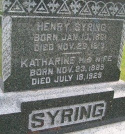 SYRING, KATHARINE - Cedar County, Iowa | KATHARINE SYRING