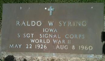 SYRING, RALDO W. - Cedar County, Iowa | RALDO W. SYRING