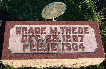 THEDE, GRACE M. - Cedar County, Iowa   GRACE M. THEDE
