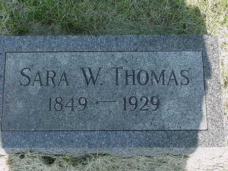 THOMAS, SARA W. - Cedar County, Iowa   SARA W. THOMAS