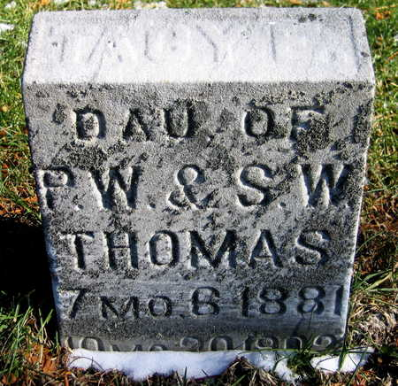 THOMAS, TACY I. - Cedar County, Iowa | TACY I. THOMAS