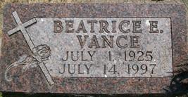 VANCE, BEATICE E. - Cedar County, Iowa | BEATICE E. VANCE