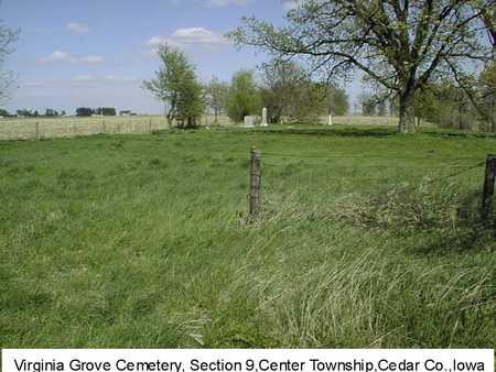 VIRGINIA GROVE, CEMETERY - Cedar County, Iowa | CEMETERY VIRGINIA GROVE