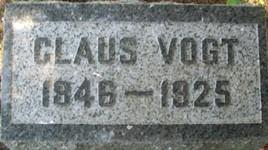 VOGT, CLAUS - Cedar County, Iowa | CLAUS VOGT
