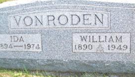 VON RODEN, WILLIAM - Cedar County, Iowa | WILLIAM VON RODEN