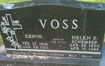 VOSS, ERWIN - Cedar County, Iowa | ERWIN VOSS