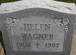 WAGNER, HELEN - Cedar County, Iowa   HELEN WAGNER
