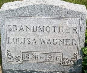 WAGNER, LOUISA - Cedar County, Iowa   LOUISA WAGNER