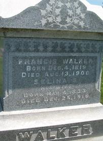 WALKER, FRANCIS A. - Cedar County, Iowa | FRANCIS A. WALKER