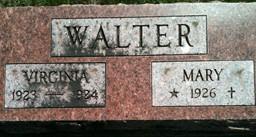 WALTER, MARY - Cedar County, Iowa | MARY WALTER