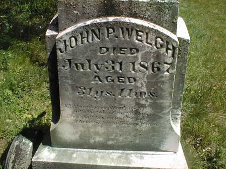 WELCH, JOHN P. - Cedar County, Iowa | JOHN P. WELCH