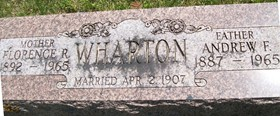 WHARTON, FLORENCE R. - Cedar County, Iowa | FLORENCE R. WHARTON