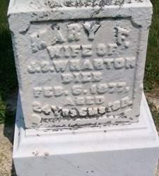 WHARTON, MARY F. - Cedar County, Iowa | MARY F. WHARTON