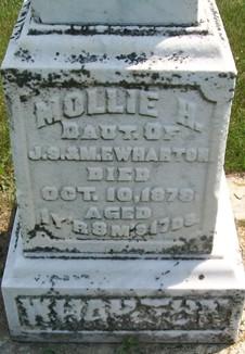 WHARTON, MOLLIE H. - Cedar County, Iowa | MOLLIE H. WHARTON