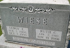 WIESE, LEROY E. - Cedar County, Iowa | LEROY E. WIESE