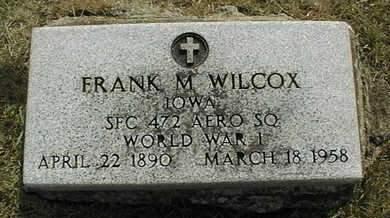 WILCOX, FRANK M. - Cedar County, Iowa | FRANK M. WILCOX