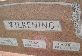 WILKENING, LULA - Cedar County, Iowa | LULA WILKENING