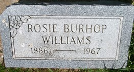 BURHOP WILLIAMS, ROSIE - Cedar County, Iowa | ROSIE BURHOP WILLIAMS