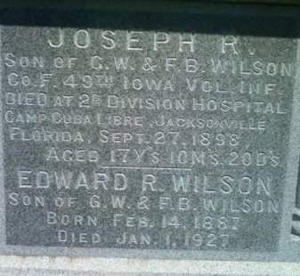 WILSON, JOSEPH R. - Cedar County, Iowa | JOSEPH R. WILSON