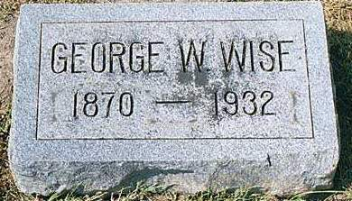 WISE, GEORGE WASHINGTON - Cedar County, Iowa | GEORGE WASHINGTON WISE