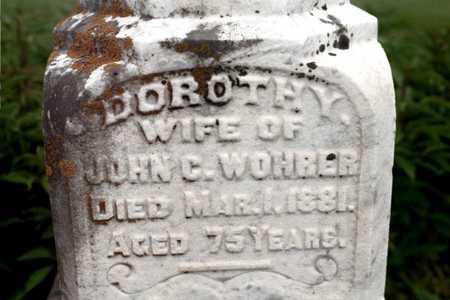 WOHRER, DOROTHY - Cedar County, Iowa   DOROTHY WOHRER