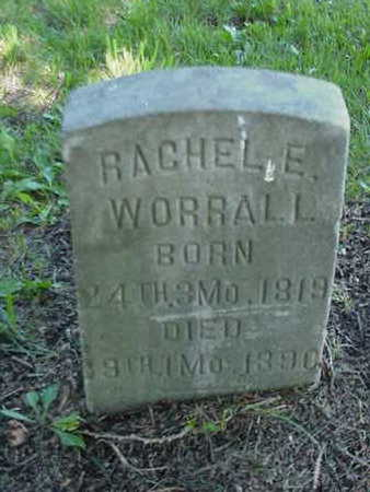 WORRALL, RACHEL  E. - Cedar County, Iowa   RACHEL  E. WORRALL