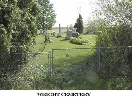 WRIGHT, CEMETERY - Cedar County, Iowa | CEMETERY WRIGHT