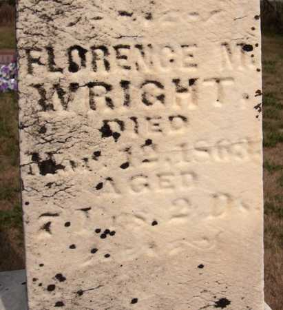 WRIGHT, FLORENCE M. - Cedar County, Iowa | FLORENCE M. WRIGHT