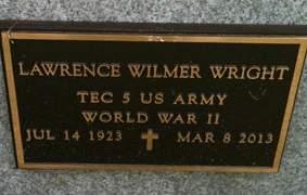 WRIGHT, LAWRENCE WILMER - Cedar County, Iowa | LAWRENCE WILMER WRIGHT