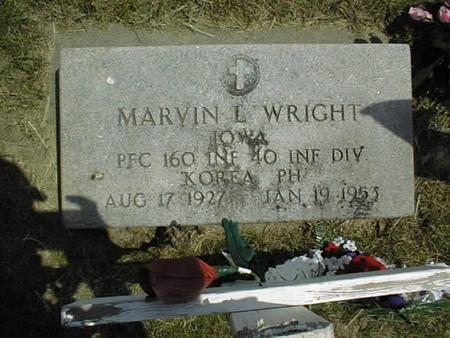 WRIGHT, MARVIN L. - Cedar County, Iowa   MARVIN L. WRIGHT