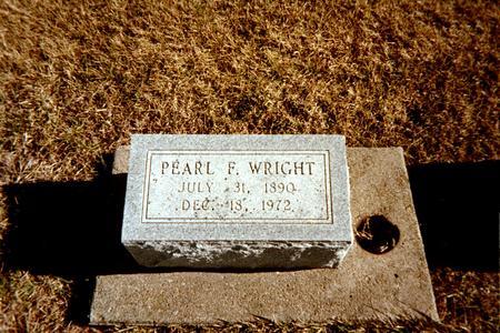 WRIGHT, PEARL - Cedar County, Iowa | PEARL WRIGHT