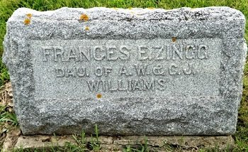WILLIAMS ZINGG, FRANCES E. - Cedar County, Iowa | FRANCES E. WILLIAMS ZINGG