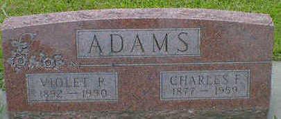 ADAMS, CHARLES F. - Cerro Gordo County, Iowa   CHARLES F. ADAMS
