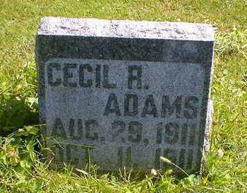 ADAMS, CECIL R. - Cerro Gordo County, Iowa | CECIL R. ADAMS