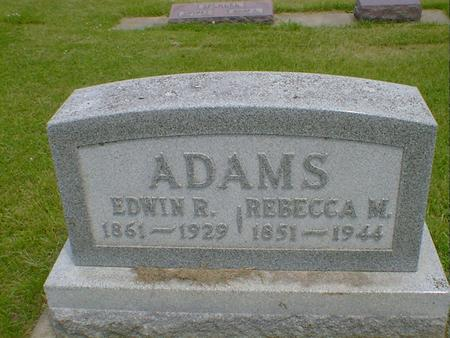 ADAMS, EDWIN R. - Cerro Gordo County, Iowa | EDWIN R. ADAMS