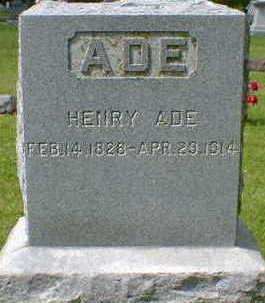 ADE, HENRY - Cerro Gordo County, Iowa   HENRY ADE